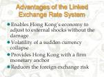 advantages of the linked exchange rate system18