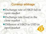 currency arbitrage