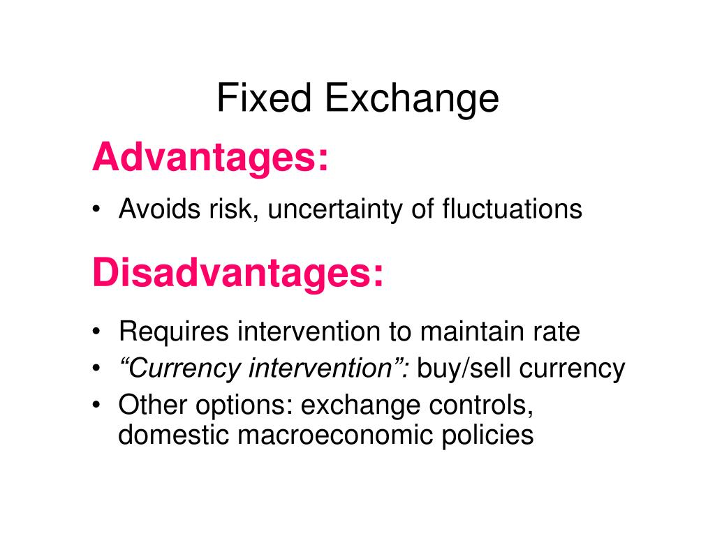 Fixed Exchange