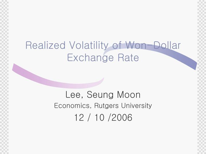 Realized volatility of won dollar exchange rate