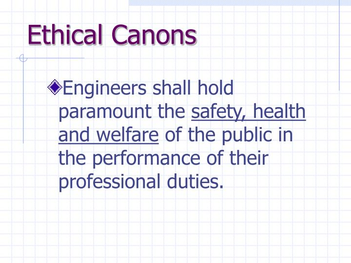 Ethical Canons