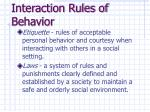 interaction rules of behavior