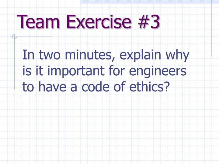 Team Exercise #3