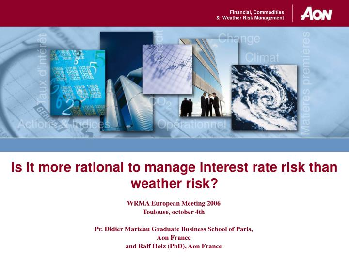 Is it more rational to manage interest rate risk than weather risk