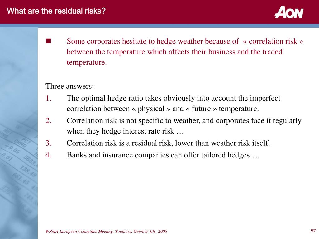 What are the residual risks?