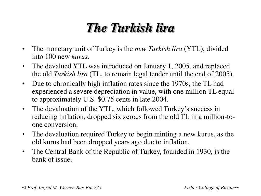 The Turkish lira