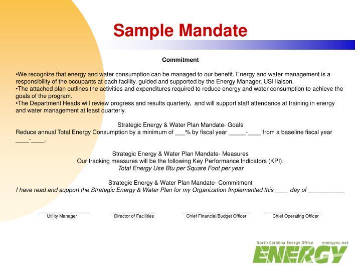Sample Mandate