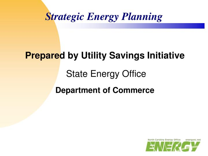 Strategic Energy Planning