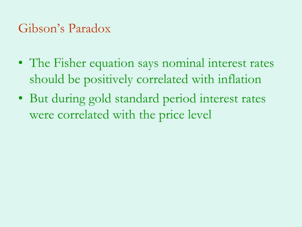 Gibson's Paradox