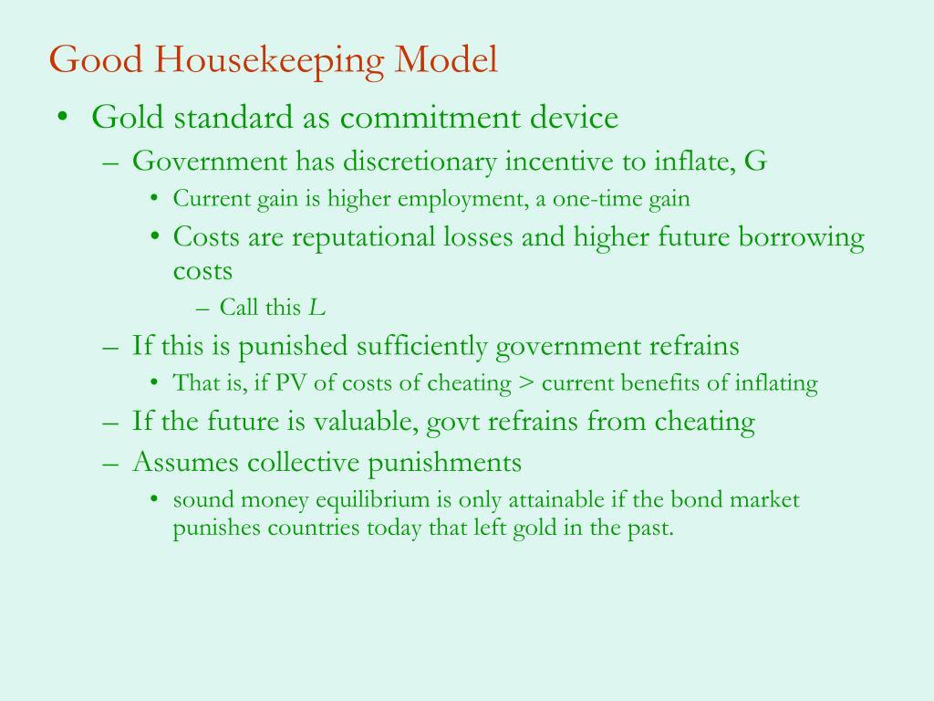 Good Housekeeping Model
