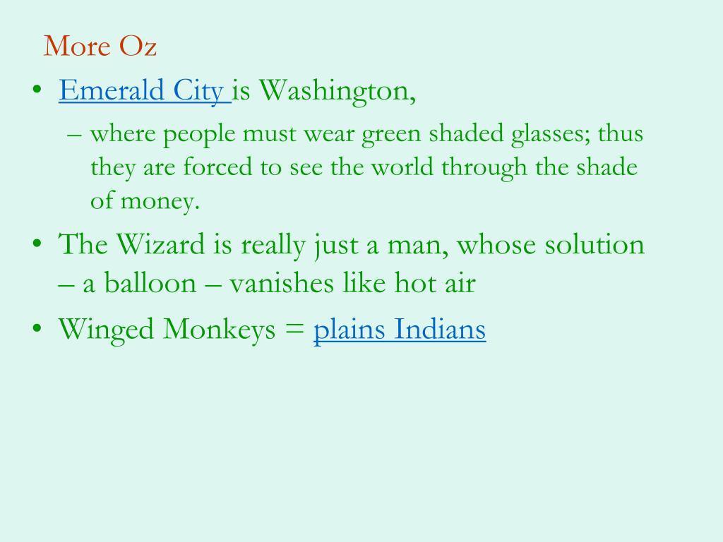 More Oz