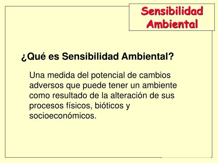 Sensibilidad Ambiental