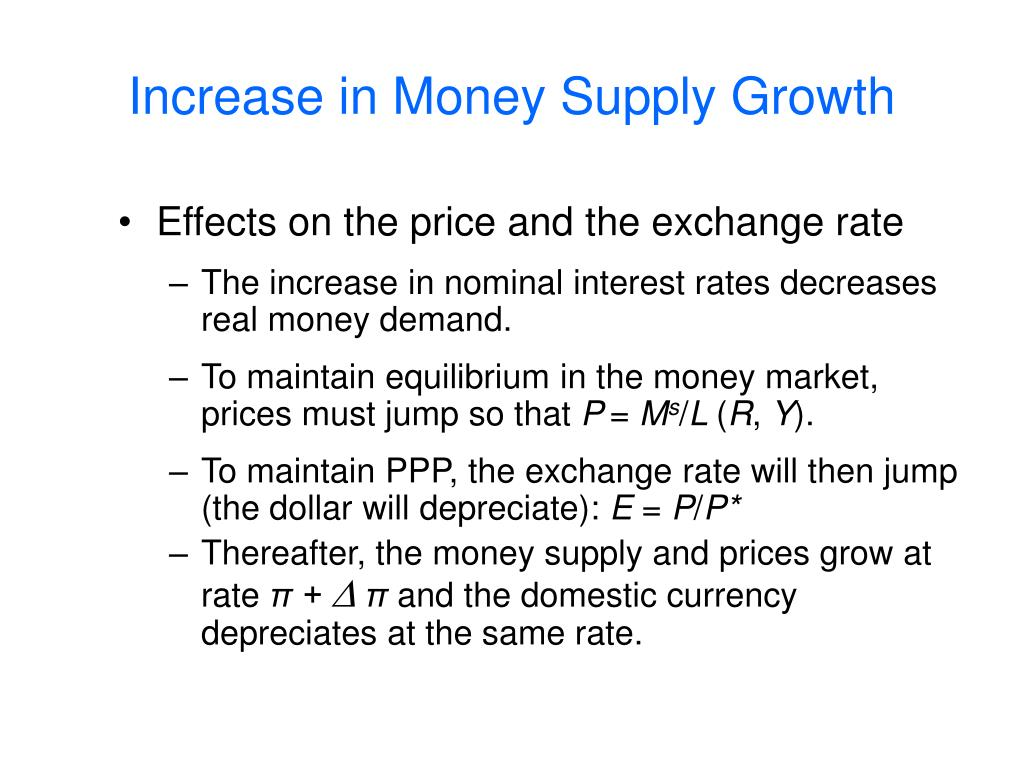 Increase in Money Supply Growth