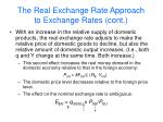 the real exchange rate approach to exchange rates cont32