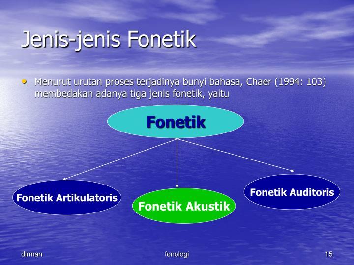 Jenis-jenis Fonetik