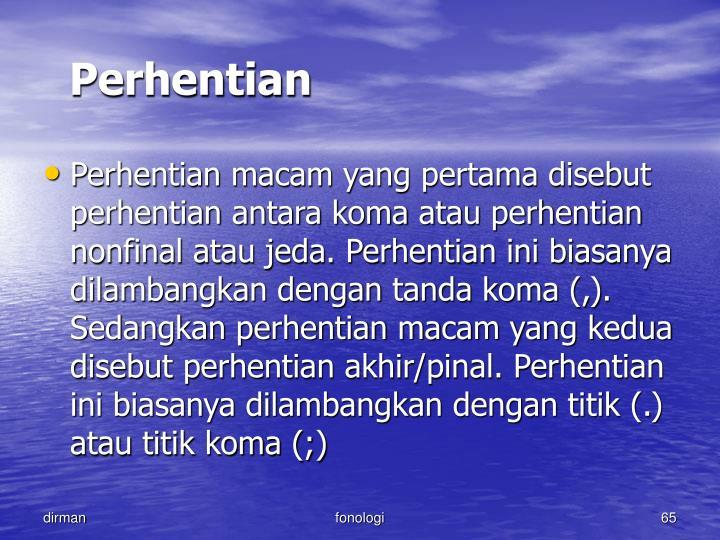 Perhentian