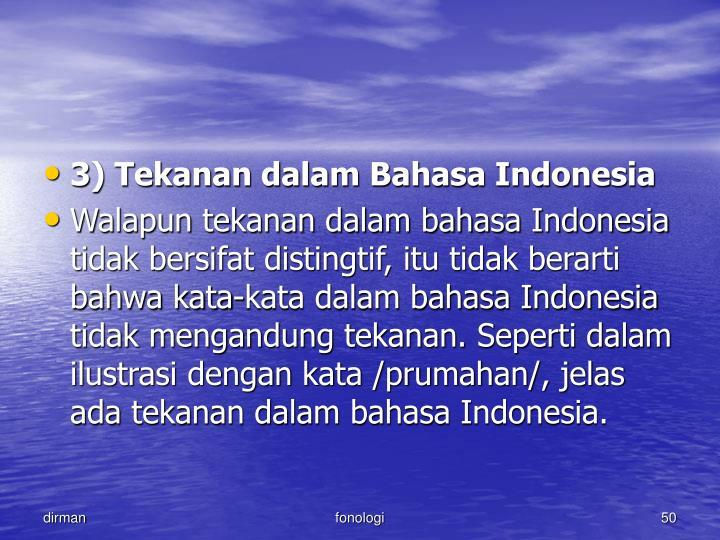 3) Tekanan dalam Bahasa Indonesia