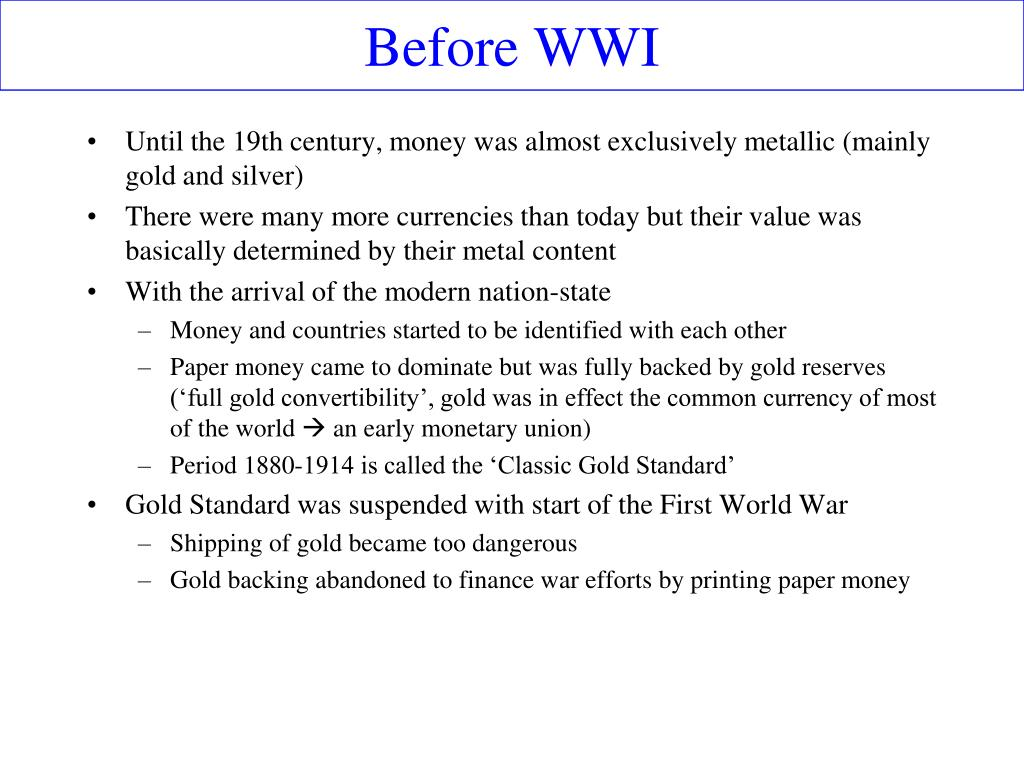 Before WWI