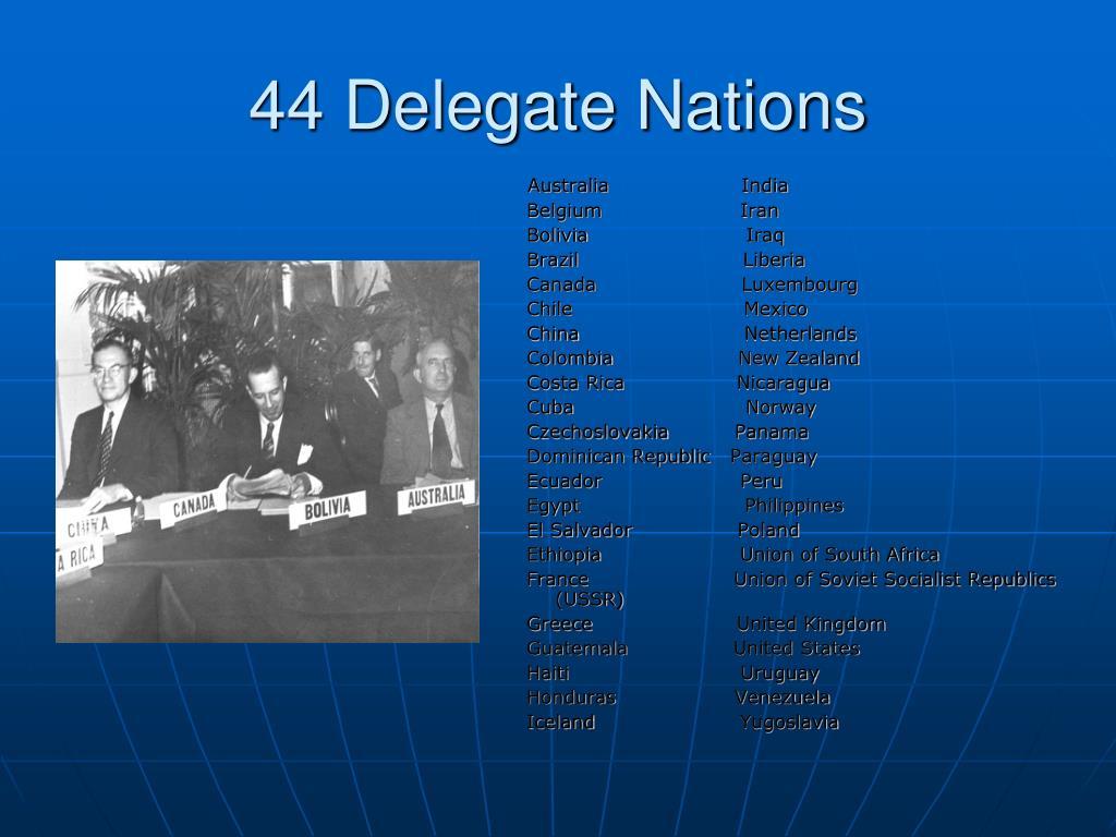 44 Delegate Nations