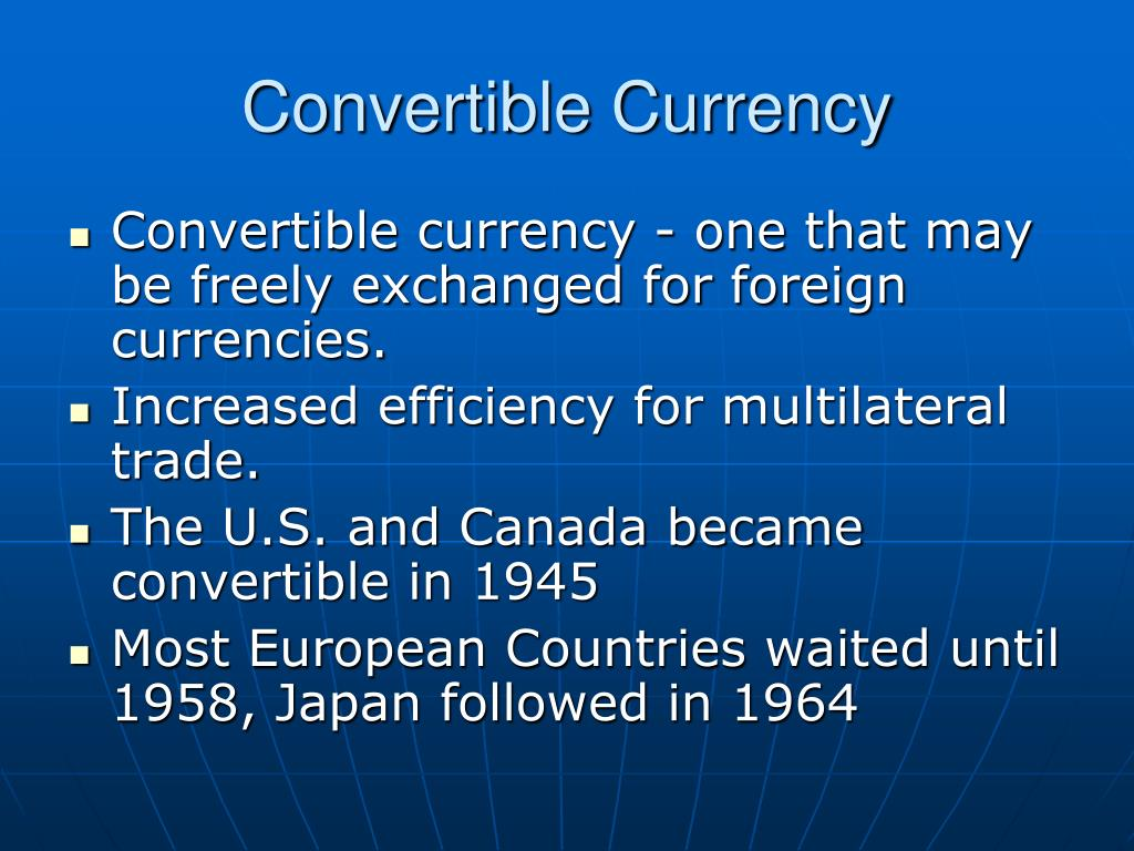 Convertible Currency