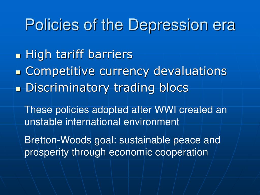 Policies of the Depression era