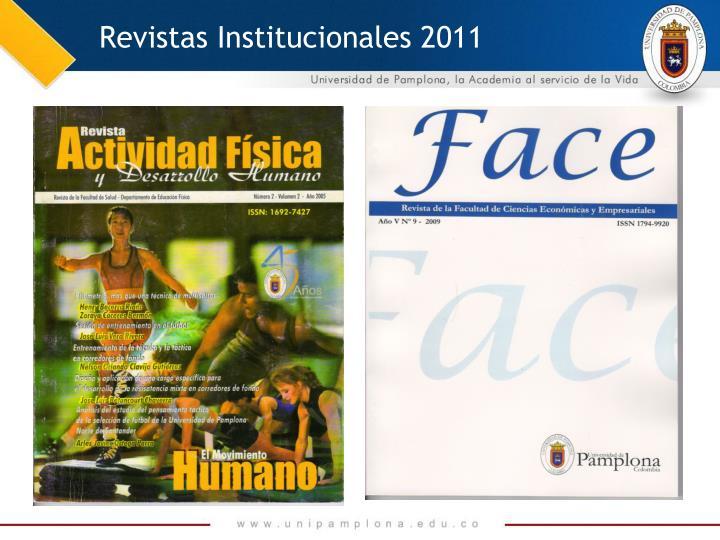 Revistas Institucionales 2011