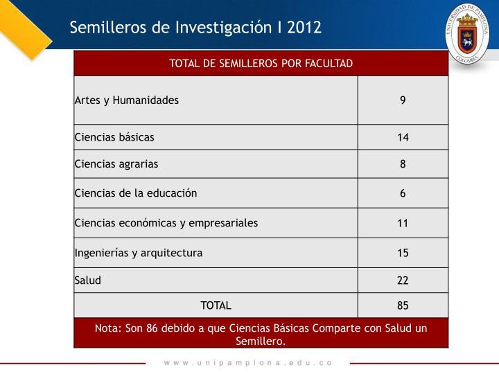 Semilleros de Investigación I 2012