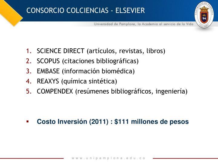 CONSORCIO COLCIENCIAS - ELSEVIER