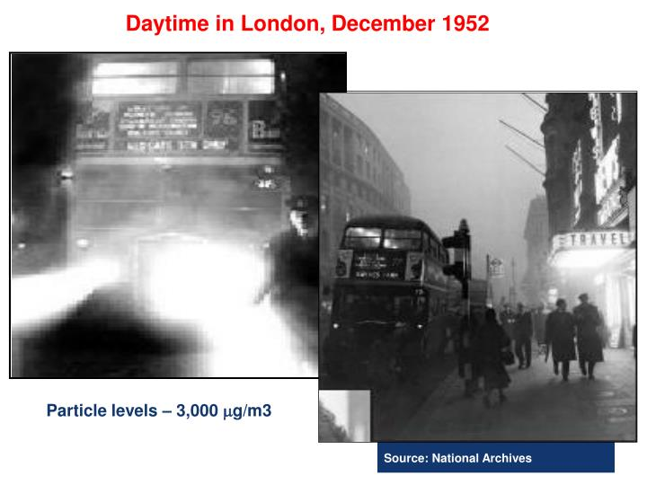 Daytime in London, December 1952