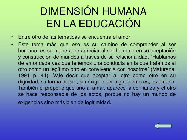 DIMENSIÓN HUMANA