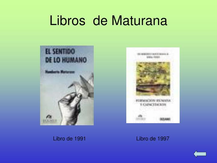 Libros  de Maturana