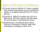 balance of payments considerations