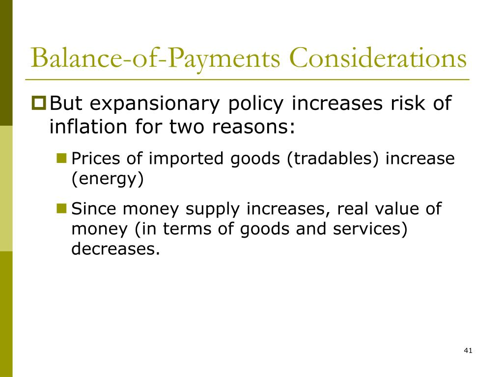Balance-of-Payments Considerations