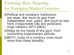 exchange rate targeting for emerging market countries