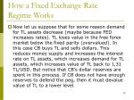 how a fixed exchange rate regime works18