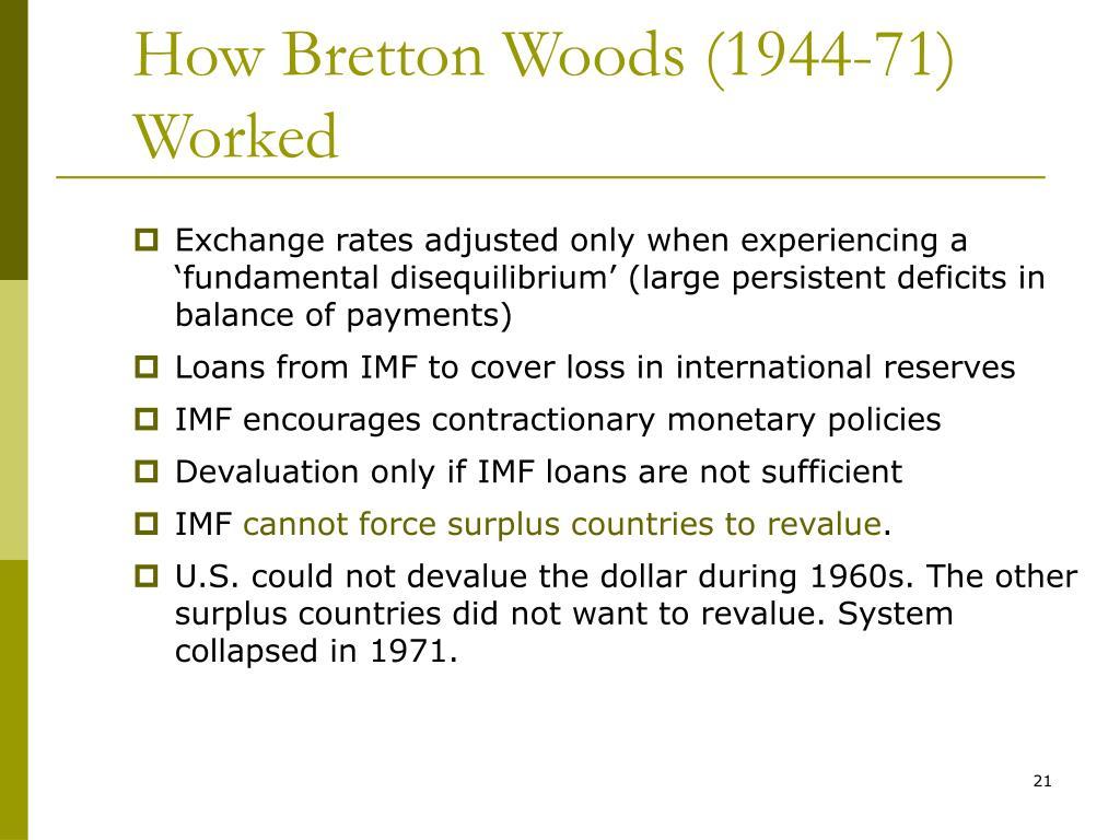 How Bretton Woods