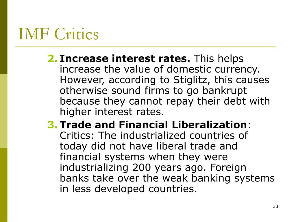 IMF Critics