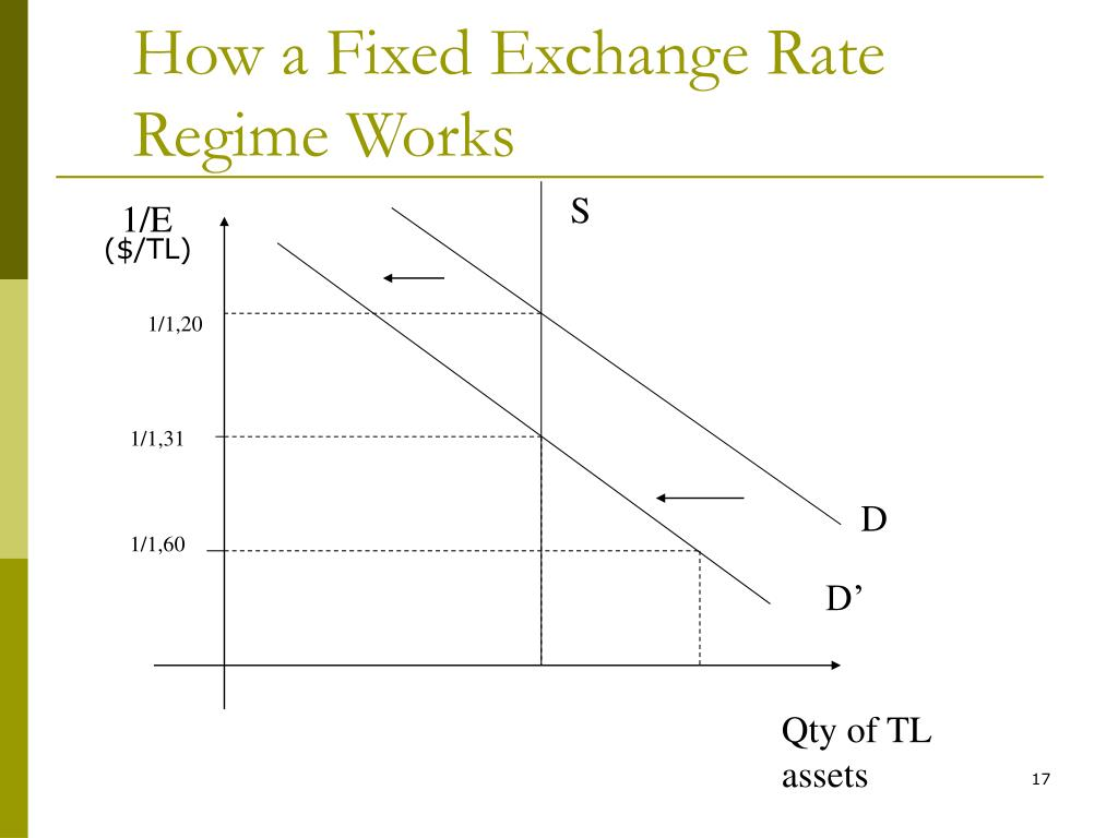 How a Fixed Exchange Rate