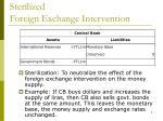 sterilized foreign exchange intervention