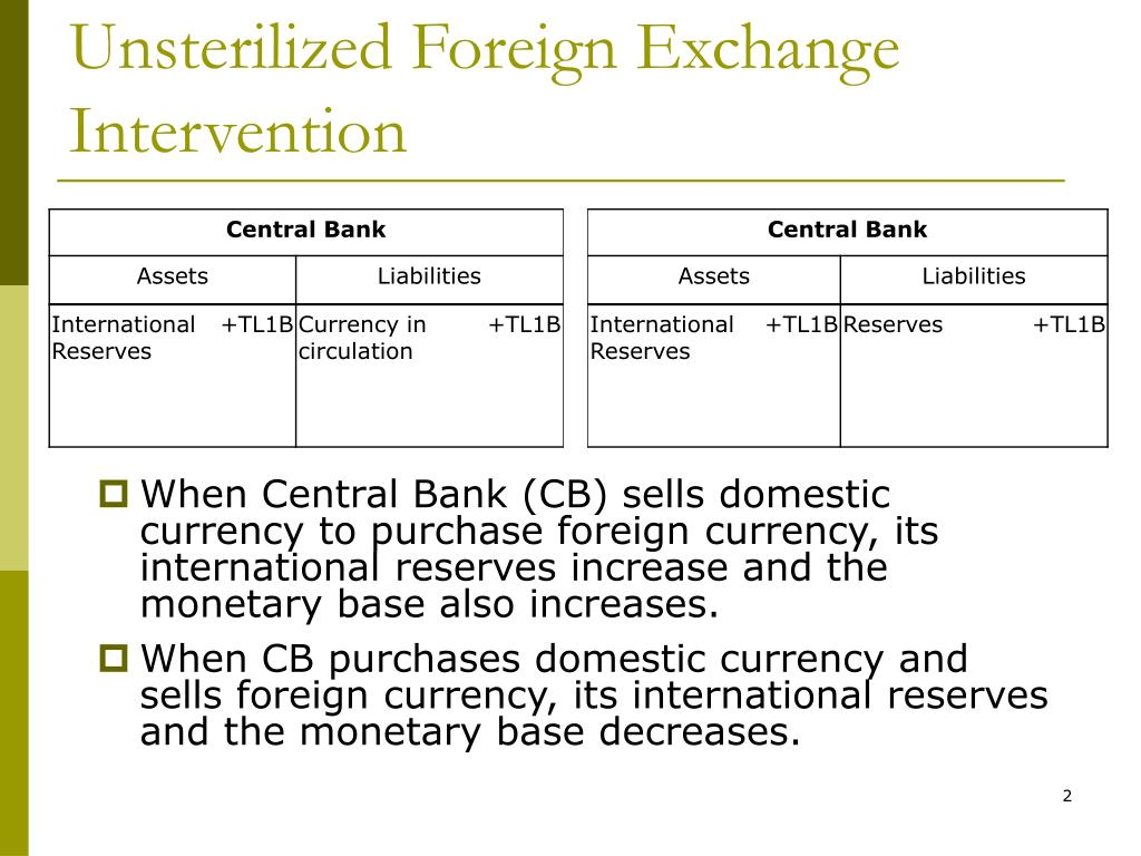 Unsterilized Foreign Exchange Intervention