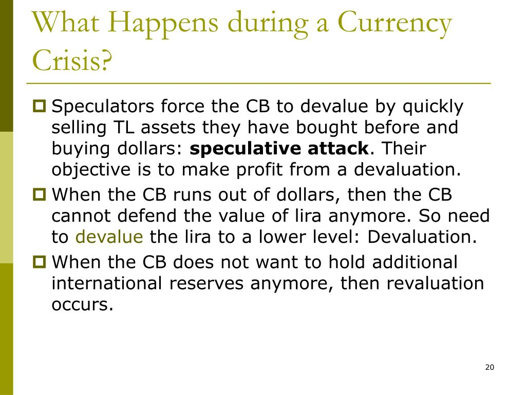 What Happens during a Currency Crisis?