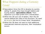 what happens during a currency crisis