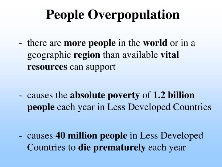 People Overpopulation