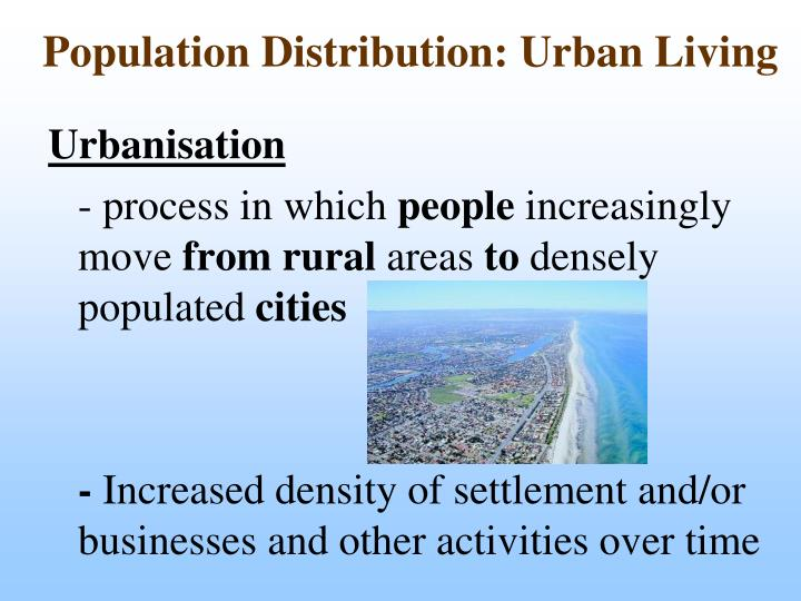 Population Distribution: Urban Living