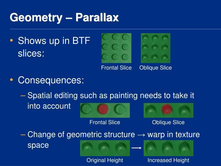 Geometry – Parallax