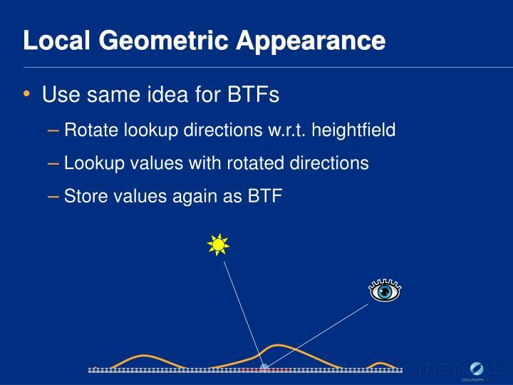 Local Geometric Appearance