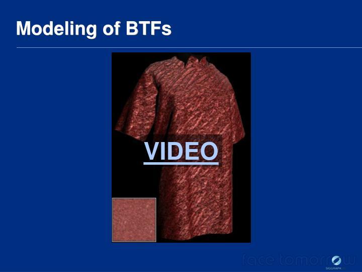 Modeling of BTFs