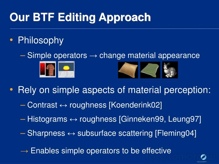 Our BTF Editing Approach
