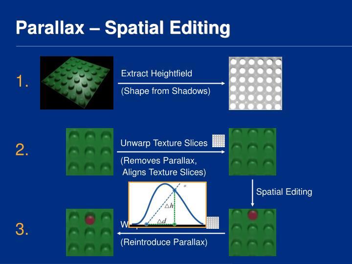 Parallax – Spatial Editing
