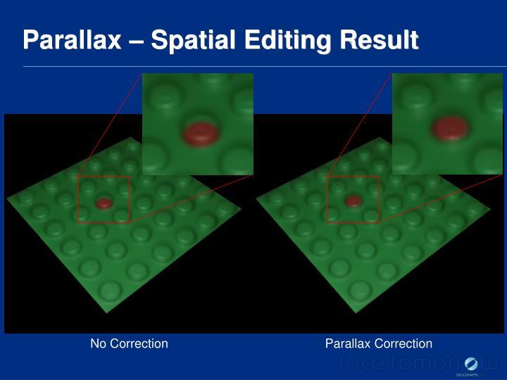 Parallax – Spatial Editing Result